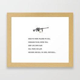 Sniper Framed Art Print