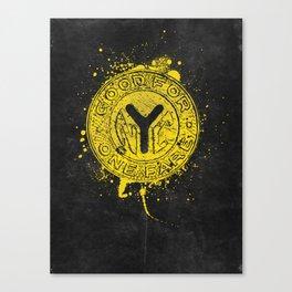 NYC Token (Black) Canvas Print