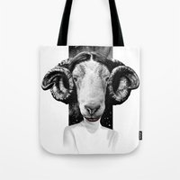 leia Tote Bags featuring LEIA by kravic