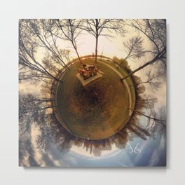 PARK PLANET PROJECT PO PARK CREMONA ITALY AUTUMN NATURE Metal Print