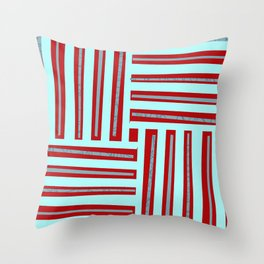 meeting of horizontal and vertical lines Throw Pillow