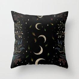 Crescent Moon Garden Throw Pillow