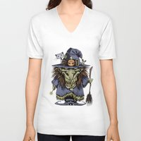witch V-neck T-shirts featuring Witch by Kape