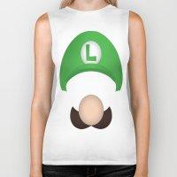 luigi Biker Tanks featuring Luigi by Aaron Macias