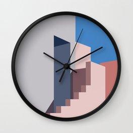 Geometric Landscapes of La Muralla Roja 1 Wall Clock