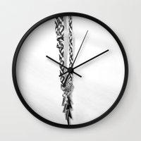 lightning Wall Clocks featuring lightning by eightjay