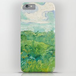 Van Gogh - Green Wheat Fields, Auvers 1890 iPhone Case
