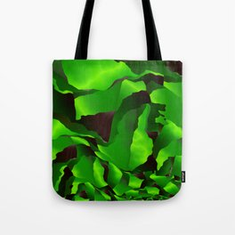 Green frayed abstraction Tote Bag