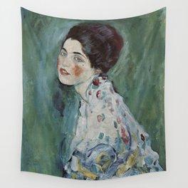 Stolen Art - Portrait of a Lady by Gustav Klimt Wall Tapestry