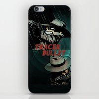 hobbes iPhone & iPod Skins featuring Calvin & Hobbes: Tracer Bullet Alternate by Gallery 94