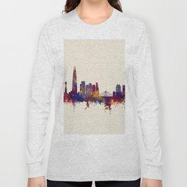 Seoul Skyline South Korea Long Sleeve T-shirt