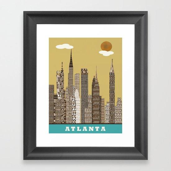 Atlanta city vintage Framed Art Print