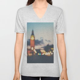 london lights Unisex V-Neck