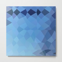 Blizzard Blue Abstract Low Polygon Background Metal Print