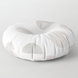 Silver Polka Dots Floor Pillow