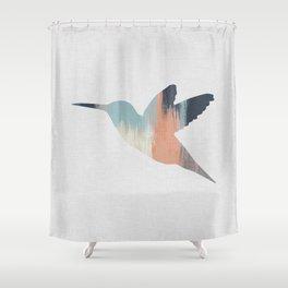 Pastel Hummingbird Shower Curtain
