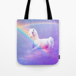 Unicorn and Rainbow Tote Bag
