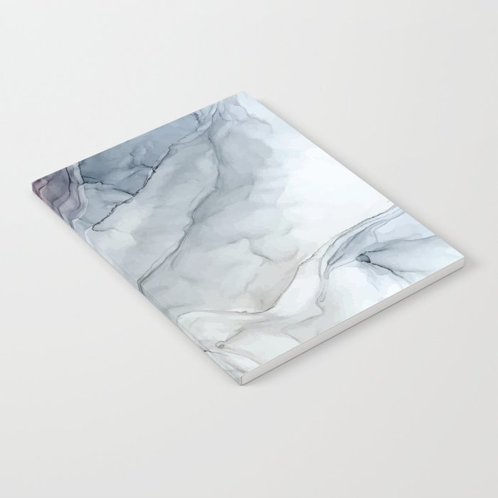 Pastel Blush, Grey and Blue Ink Clouds Painting Notebook