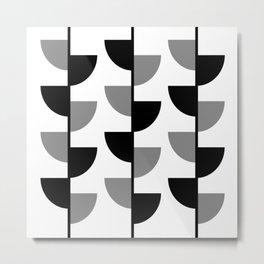 Climbing High - Black & Grey on White - Slices Series Metal Print