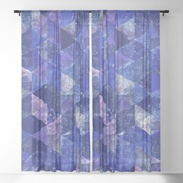 Abstract Geometric Background #19 Sheer Curtain
