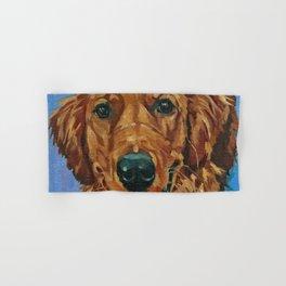 Coper the Golden Retriever Dog Portrait Hand & Bath Towel