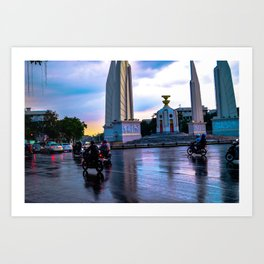 Motorbikes in South East Asia Art Print