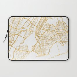 NEW YORK CITY NEW YORK CITY STREET MAP ART Laptop Sleeve