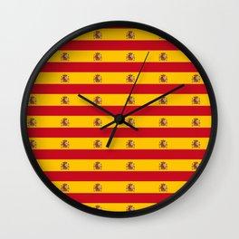 Flag of spain 2-spain,flag,flag of spain,espana, spanish,plus ultra,espanol,Castellano,Madrid,prado Wall Clock