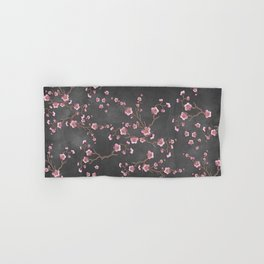 SAKURA LOVE - GRUNGE BLACK Hand & Bath Towel