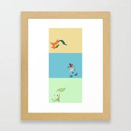 PKMN Johto Starters- large Framed Art Print