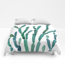 Succulent rhipsalis watercolor Comforters