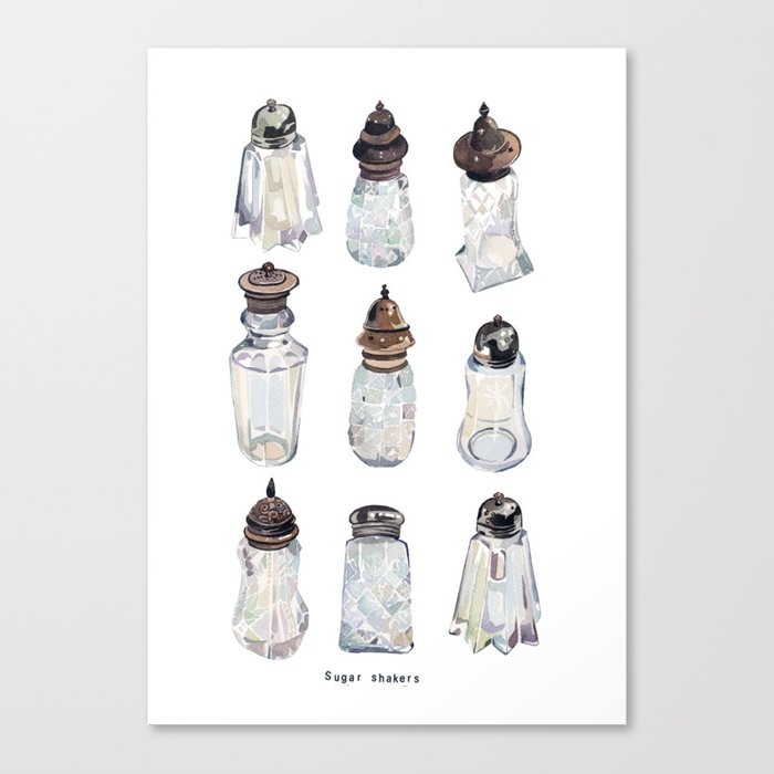 Antique Sugar Shakers Canvas Print