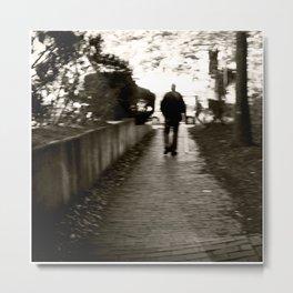 man on path i saw one afternoon Metal Print