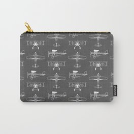 Biplanes // Charcoal Carry-All Pouch