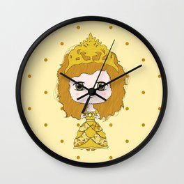 Leo Girl Wall Clock
