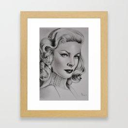 Lauren,Pencil Drawing Framed Art Print