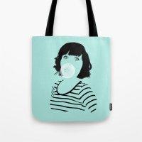 bubblegum Tote Bags featuring Bubblegum by FalcaoLucas