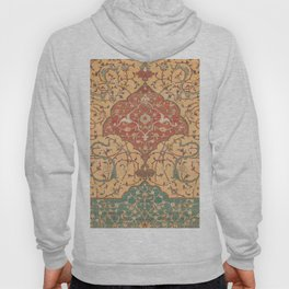 Flowery Vines VII // 16th Century Contemporary Red Blue Yellow Colorful Ornate Accent Rug Pattern Hoody