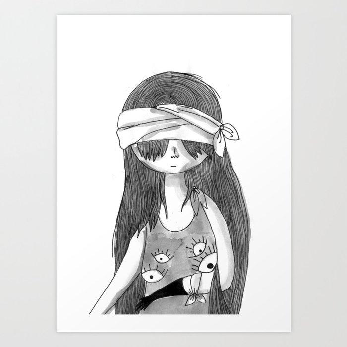 Blind Eyes Art Print By Elodiebourdeau Society6