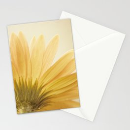 Gold Yellow Flower Photography, Golden Daisy Floral Photo, Nature Botanical Macro Picture Stationery Cards