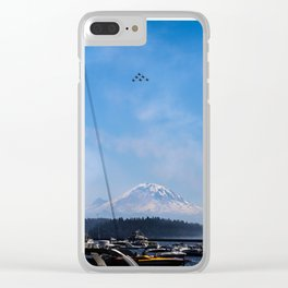 Angels Over Rainier Clear iPhone Case