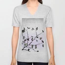 abstract cold leaves Unisex V-Neck