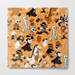 Monster March (Orange) Metal Print