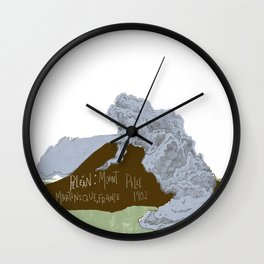 Pelean Volcanic Eruption Wall Clock