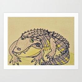 Grumpy Gator Art Print