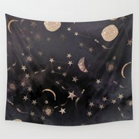 little Wall Tapestries featuring Constellations  by Nikkistrange