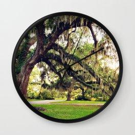 Live Oak Tree with Spanish Moss Wall Clock