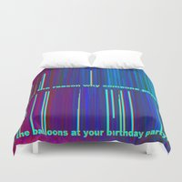pop art Duvet Covers featuring POP by Helyx Helyx