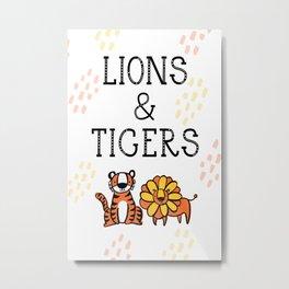 Lions & Tigers Metal Print