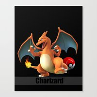 charizard Canvas Prints featuring Charizard by Yamilett Pimentel